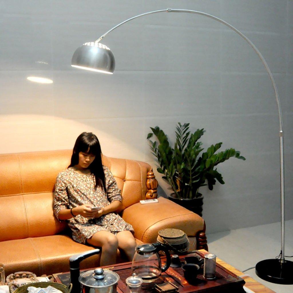 FGLDD LED Edelstahl Angeln Stehleuchte Schlafzimmer Nachttischlampe Studie Auge Studie Lampe (größe : 33 * 170-190cm)