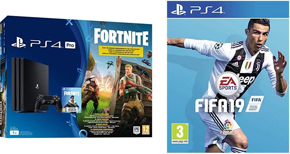 PlayStation 4 (PS4) - Consola Pro 1Tb + Fortnite Voucher + FIFA 19 ...