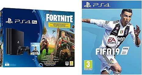 PlayStation 4 (PS4) - Consola Pro 1Tb + Fortnite Voucher + FIFA 19 Edición Estándar: Amazon.es: Videojuegos