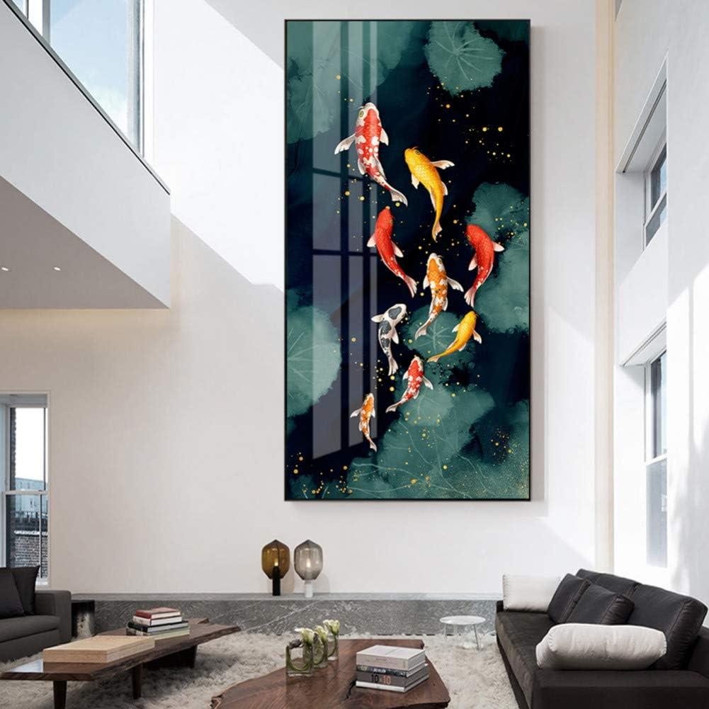 MLSWW Tableau d/écoratif sur Toile Poissons dor/és Peintures sur Toile Art Affiches Et Gravures Poissons Toile Art Animaux Mur Photos D/écor /À La Maison-40x60cm