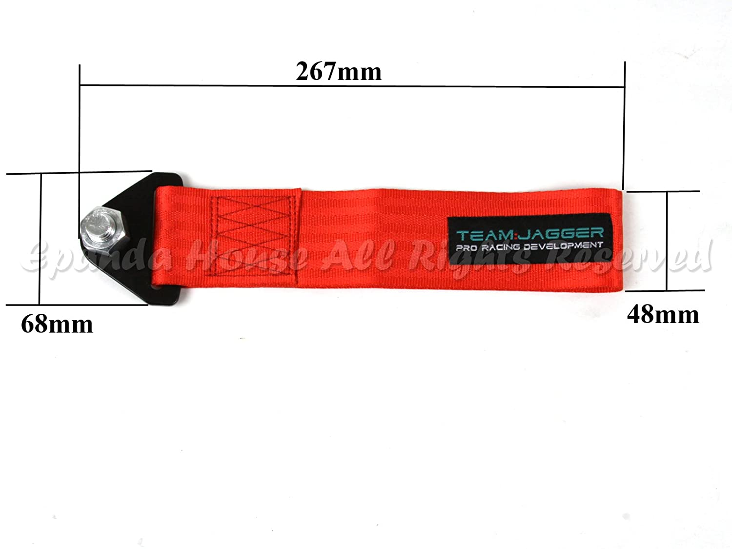 For Vw Models JDM Style 14mm Alloy Bolts Front Tow Towing Nylon Hook Strap DIY Red