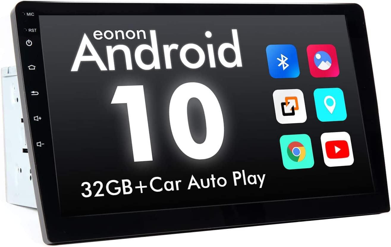 2020 Newest Double Din Car Stereo, Android Radio with DSP, Eonon Android 10 10.1 Inch Car Stereo with Navigation Car Radio Support Android Auto Apple Carplay/WiFi/Fast Boot/Backup Camera/OBDII- GA2188