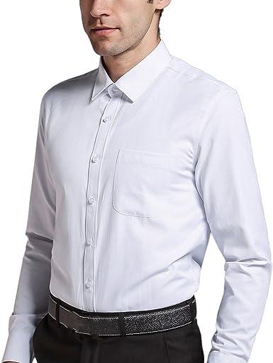 iEventStar - Camisa Formal - con Botones - Manga Larga - para Hombre: Amazon.es: Ropa y accesorios