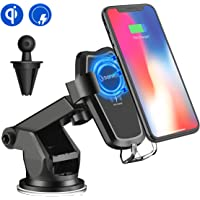 SONRU Drahtloses Auto Ladegerät Mobiltelefonhalter Suction Mount Auto Mounted Qi induktiv Wireless schnelles Ladestation für iPhone 8/8 Plus / iPhone X / Samsung Galaxy S9 / S9 Plus / S8 / S8 Plus / S7 Edge / S6 Edge Plus Note 8 / Note 5, andere Qi befähigte Geräte
