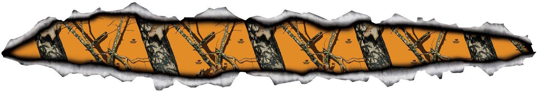 Mossy Oak Graphics 10013-BZ Camouflage 45 x 8 Blaze Torn Metal Stripe