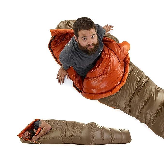 Cámping Saco de Dormir, Ultraligero, Protección contra el frío al Aire Libre, al Aire Libre, bajo Cero Adulto, Pato para Acampar (Color: 1): Amazon.es: ...