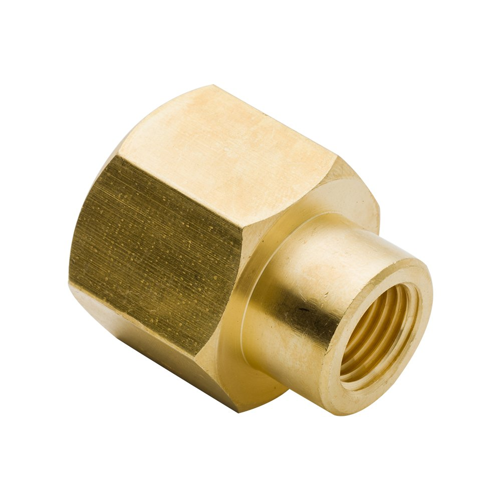 Legines Brass Pipe and Welding Fitting, Reducing Coupling, 1/4'' NPT Female to 1/8'' NPT Female (Pack of 2)