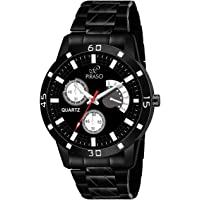 Piraso Times Black Watch in - (Matte Chain) for Men's & Boys -32-BK-CK-Matte