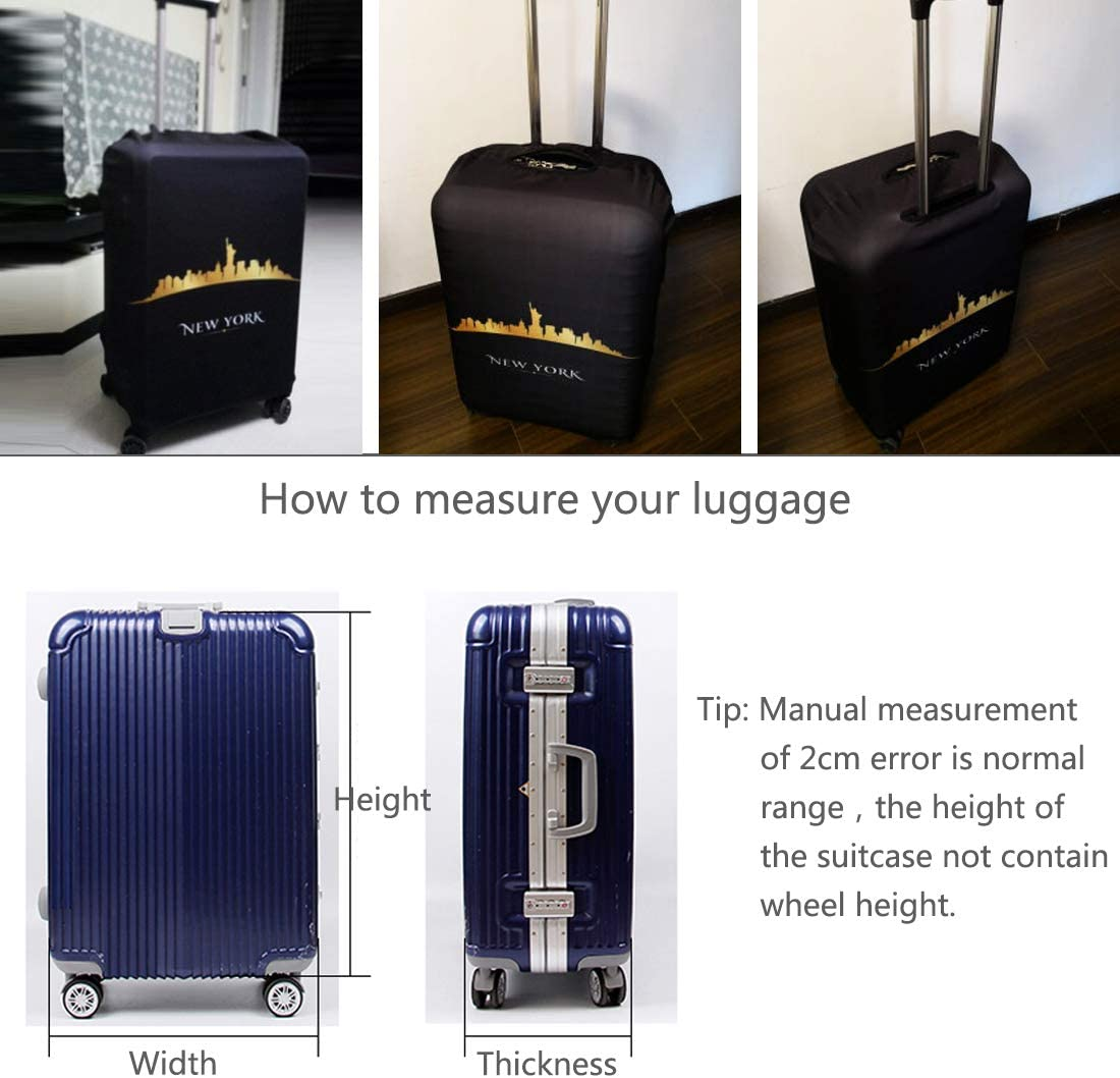 M TRAVELKIN Thickened Luggage Cover ,Washable Travel Gear Cover,18//24//28//32 Inch Suitcase Spandex Protective Cover , Banana Leaf 22-24luggage