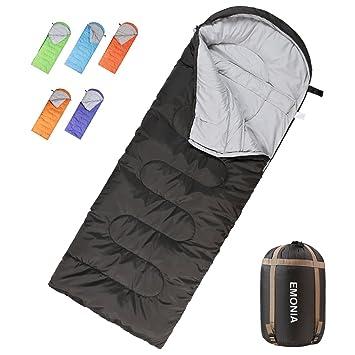 Amazon.com: EMONIA - Saco de dormir para acampada ...