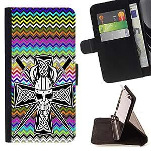 Dragon Case - FOR Sony Xperia Z3 Compact - Look before you leap - Caja de la carpeta del caso en folio de cuero del tir¨®n de la cubierta protectora Shell