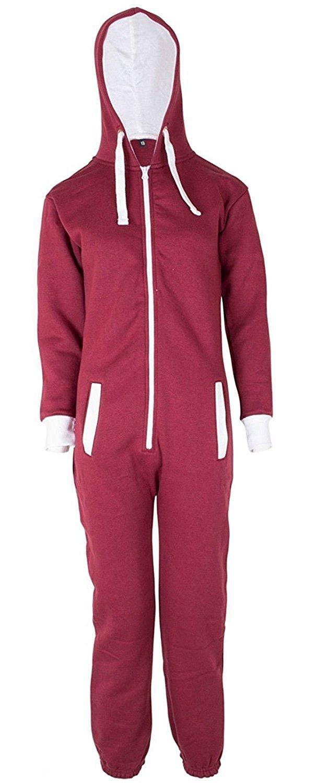Made By Mymixtrendz Kids jungen Mädchen Unisex Plain Santa Elf Neuheit Xmas Onesie Overall Jumpsuit Nacht Anzug 7-13 Jahre UNKNOWN