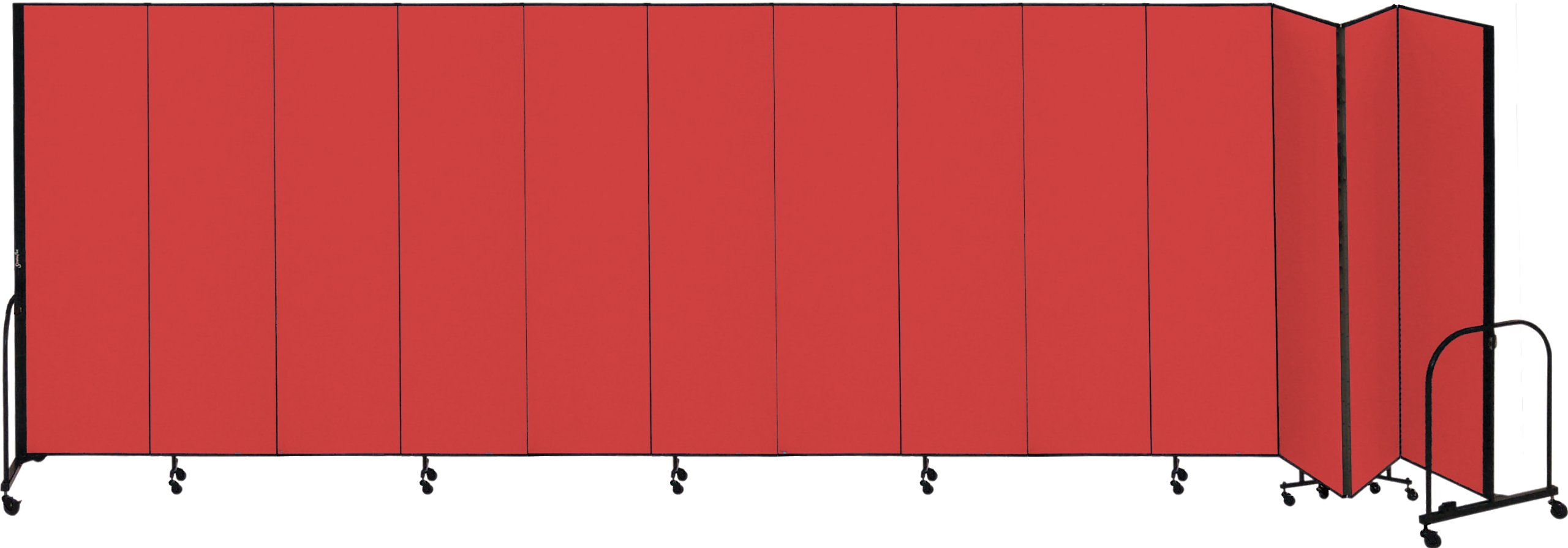Screenflex Commercial Portable Room Divider (CFSL7413-DB) 7 Feet 4 Inches High by 24 Feet 1 Inches Long, Designer Lake Fabric
