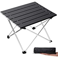 Folding Camping Table Portable Beach Table Backpacking Travel RV Fold Collapsible Foldable Picnic Table in a Bag Max 55lbs Aluminum Side Table Lightweight Camp Tables for Outdoor Cooking