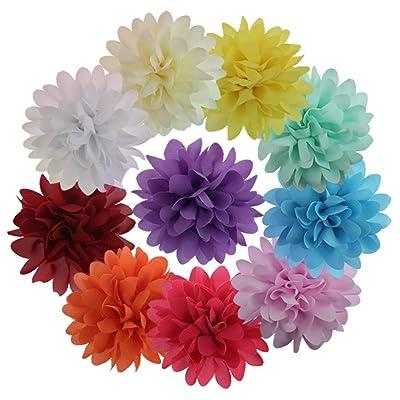 10 Piezas Pinza De Pelo Diseño De Flore Para Las Niñas &Chicas Clip De Pelo Multicolor Muchacha Pelo Adornos