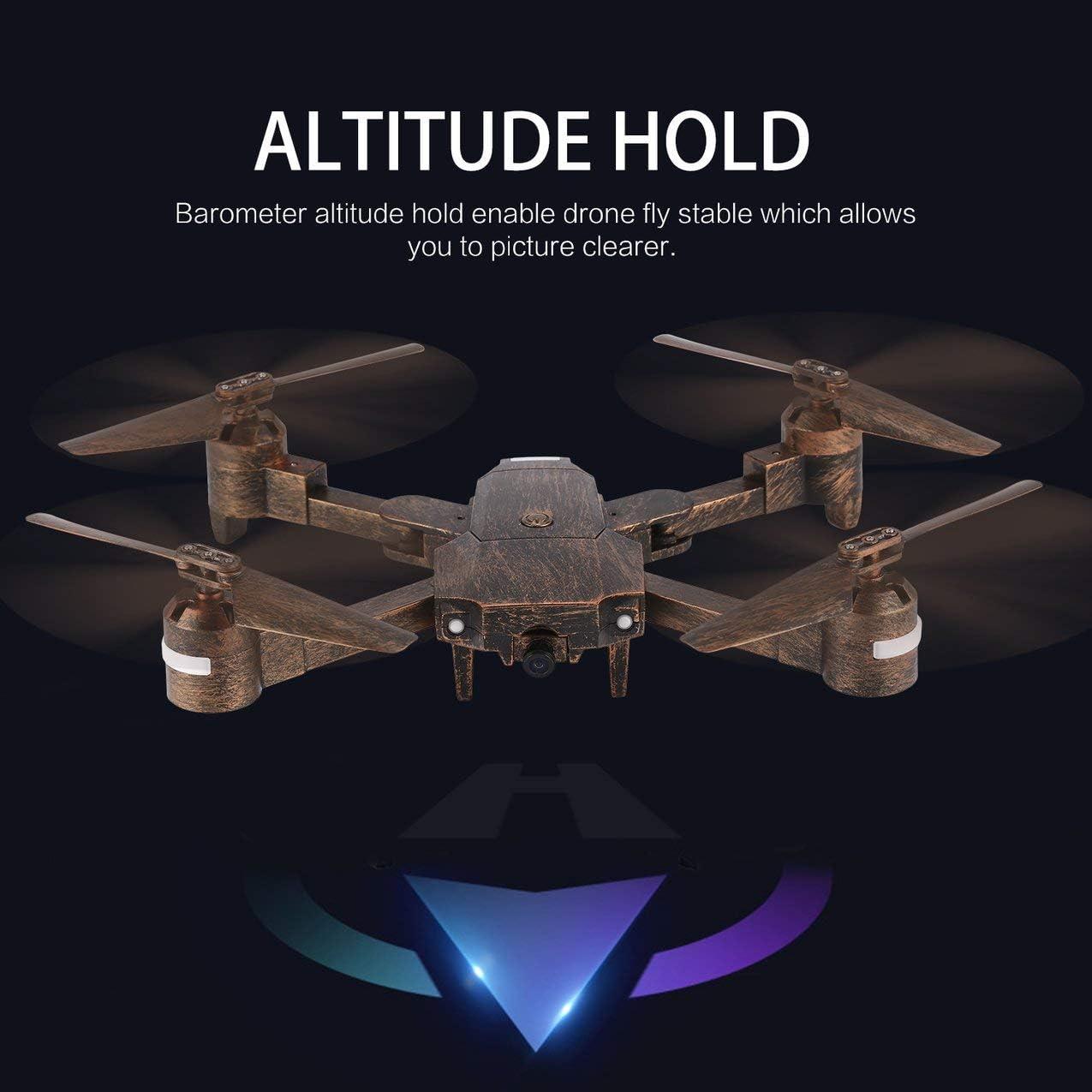 Redstrong Attop X-PACK1 2.4G Drone 720P HD WiFi Cámara Gran Angular Video en Vivo FPV RC Quadcopter Plegable con Altitude Hold Headless: Amazon.es: Juguetes y juegos
