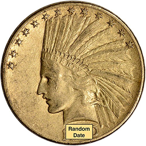 Head Double Eagle Gold Coin - Various Mint Marks Indian Head Eagle VF Random Date $10 Circulated US Mint