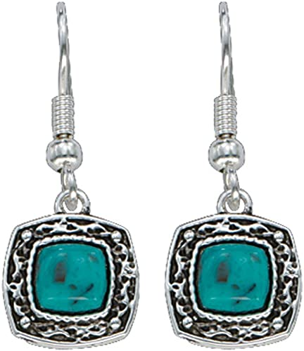 Montana Silver And Turquoise Studded Earrings