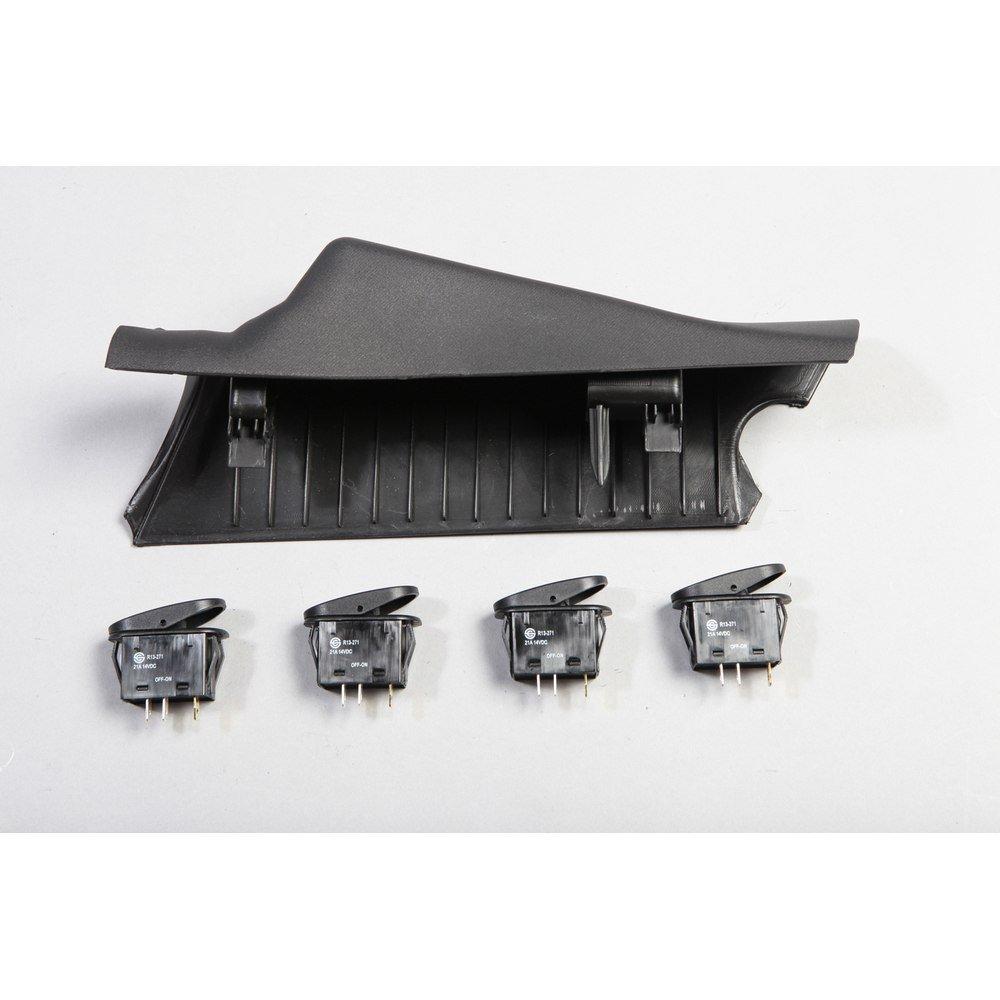 Rugged Ridge 17235.97 Black Right Side A-Pillar 4-Switch Pod Kit Omix-Ada