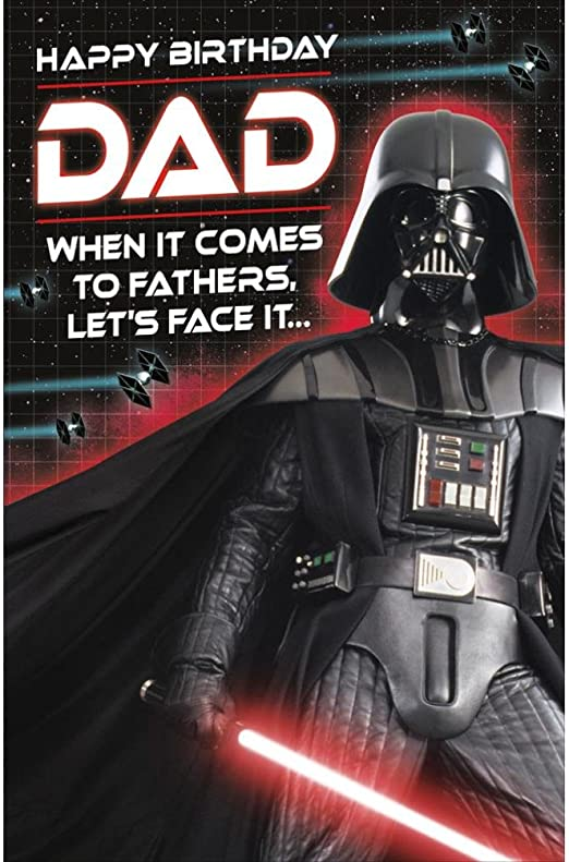 Amazon.com: Dad Star Wars Darth Vader Happy Birthday ...