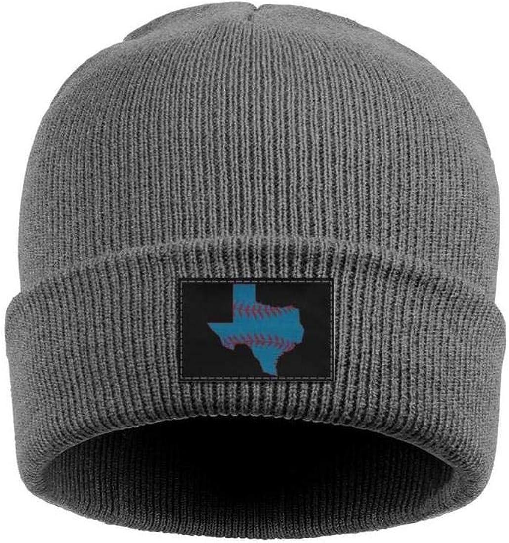 FYFYOK Mens Slouchy Beanie Hat Toboggan Hats Texas Baseball Stitch State Stretchy Cap