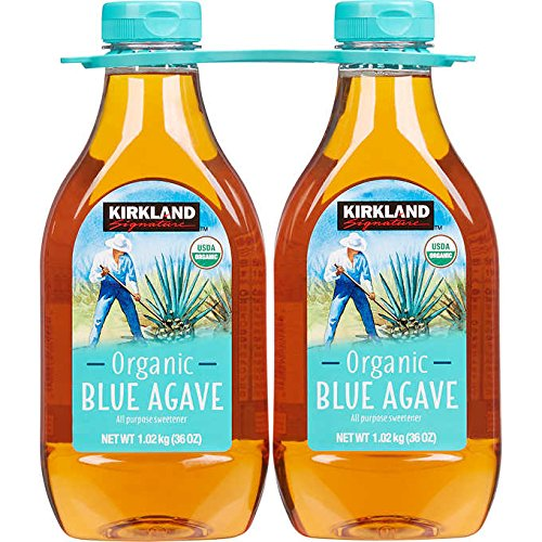 - Kirkland Signature Organic Blue Agave All Purpose Sweetener, 36oz Bottle (Pack of 2, Total of 72 Oz)