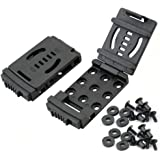 Belt Clip Outdoor Camping Knife Blade Lock with Screws, Set of 2 (Black)