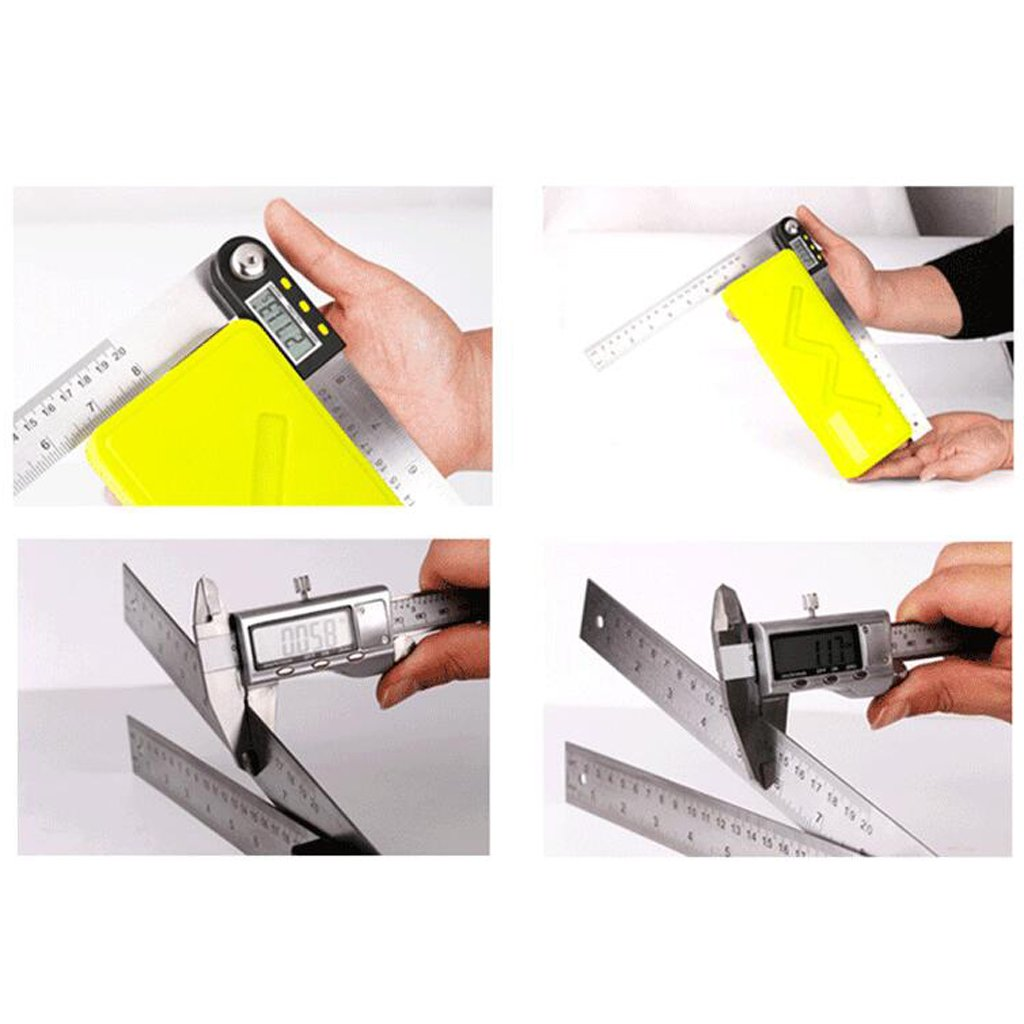500mm Digital Electronic Angle Finder Protractor and Ruler Pocket Goniometer 500mm Silver 200mm 300mm