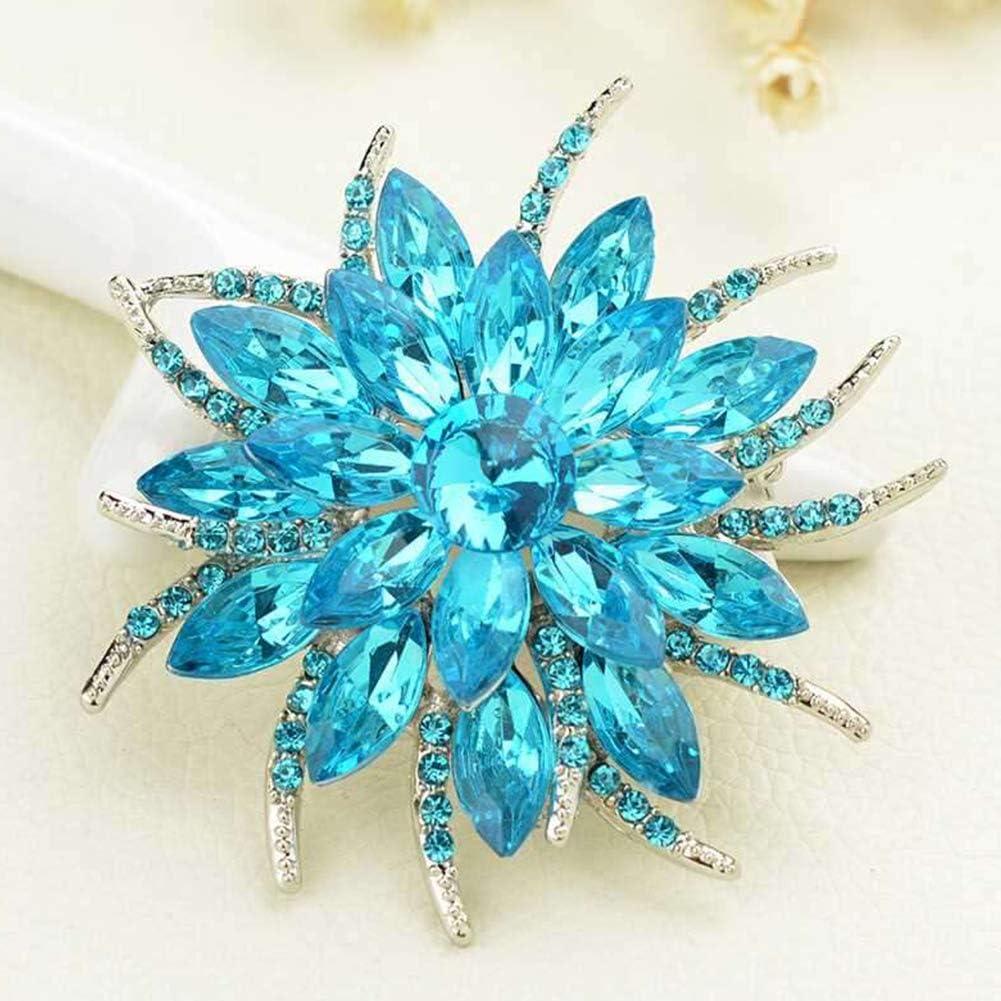 Belle Fleur en Forme De Broche en Mode Corsage De Cristal Femmes Bijoux Accessoires Collier Pin pour Les Femmes Bouquet De Mariage X2108 Type Color/é