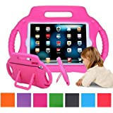 iPad Mini Case, iPad Mini 2 Case, EUHubb [Kids Case] Multi Function Kids Childproof Shockproof Cover Case with Stand [Carrying Handle] for Apple iPad Mini 1/2/3, iPad Mini Retina Pink