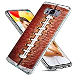 S8 Plus Case Cute,S8 Plus Case Cool,ChiChiC Full Protective Slim Flexible Soft TPU Rubber Cases Cover with Art Design for Samsung Galaxy S8 Plus,Funny Sports Design Ball Brown American Football
