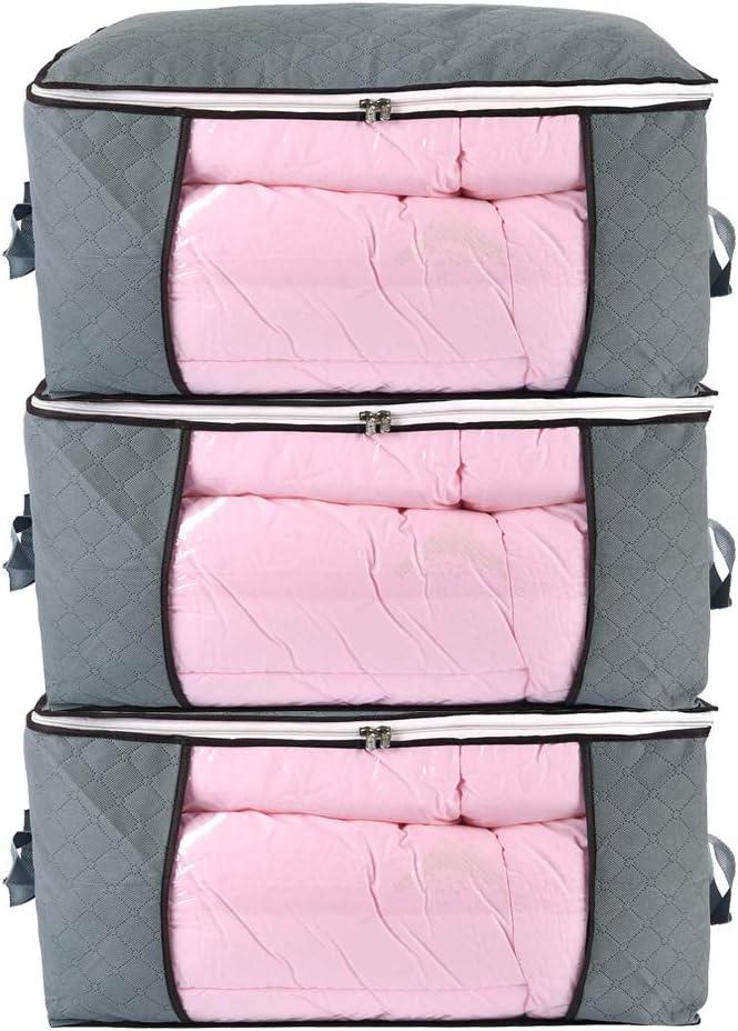 3 Pack Underbed Clothing Organiser Bins