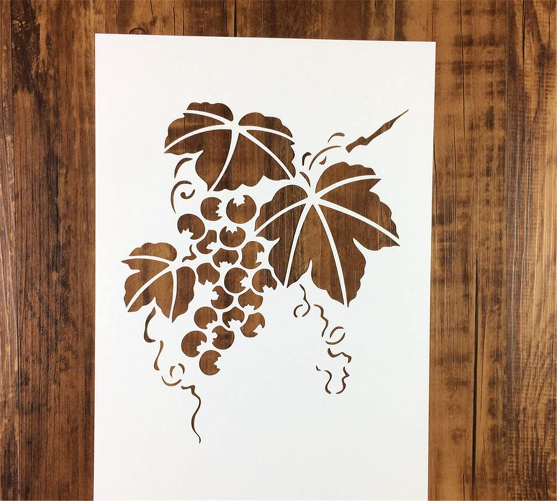 Amazon Com Zzooi Hollowed Out Grape Vine Painting Stencil Hollow Grapevine Drawing Template For Diy Shirts Diy Craft Diy Drawing