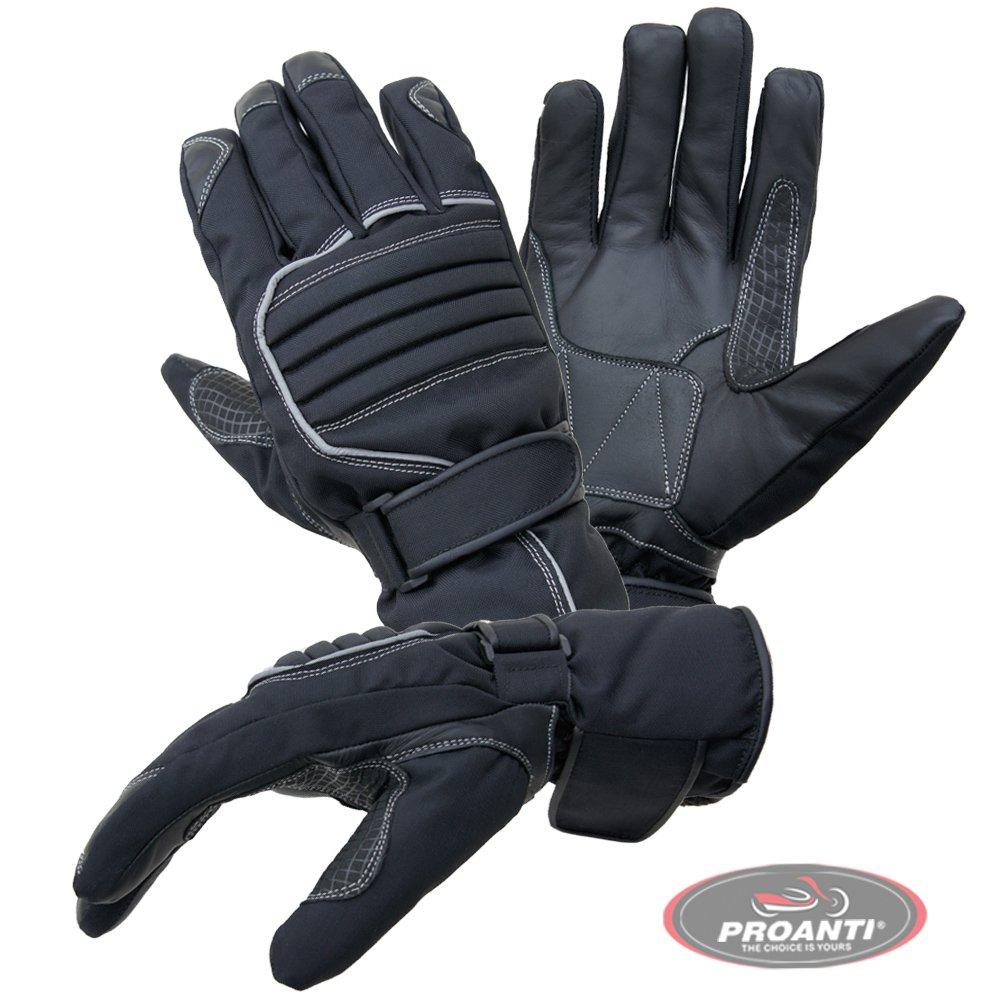 Gr. M-XXL, schwarz PROANTI Motorradhandschuhe Regen Winter Motorrad Handschuhe