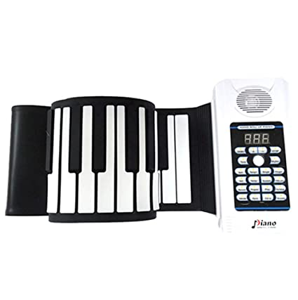 61 teclas flexibles Roll-up Piano Función grabación USB Keyboard S de piano Kids Roll