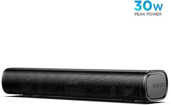 Mini Barra de Sonido 2.0 Canales para TV/PC, BOMAKER 30W Mini ...