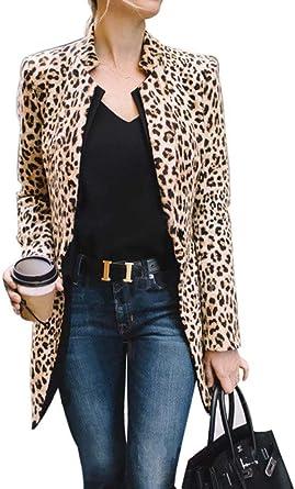 UK Womens Ladies Long Sleeve Blazer Open Front Suit Long Jacket Coat Size S-XL