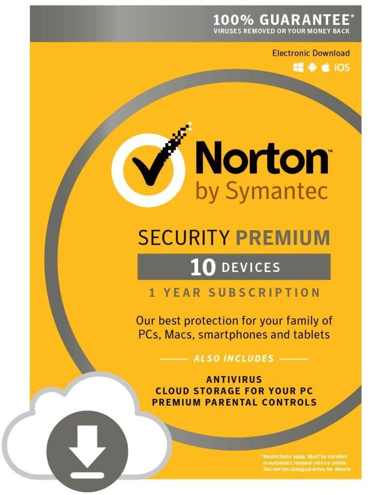 Symantec 21351356-177909 Norton Security Premium - 10 Devices (PC/Mac) by Symantec
