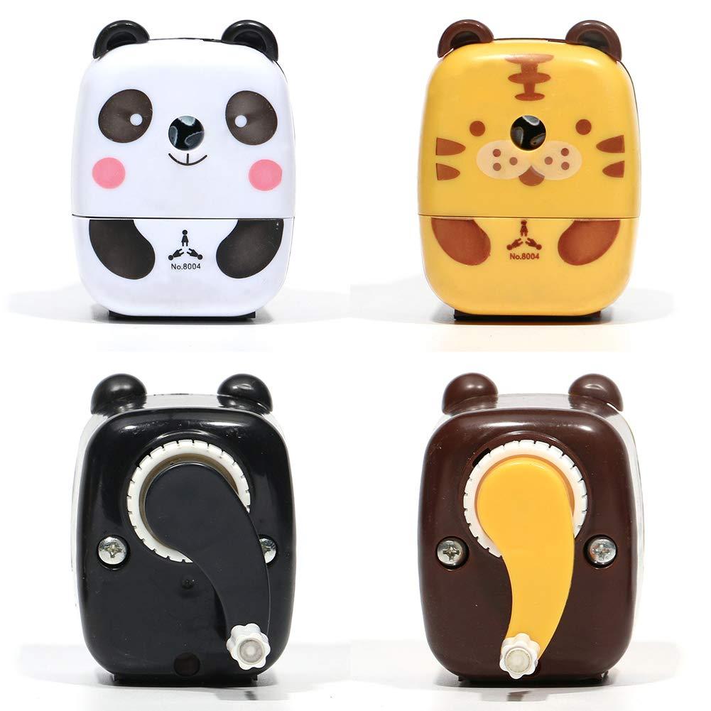Sacapuntas - panda Panda Panda Multifunci/ón Dibujos Bonitos Animal Panda//Tigre Manivela de Mano Manual Sacapuntas con No Deslizar Base para la Oficina Sal/ón de Clases Regalo