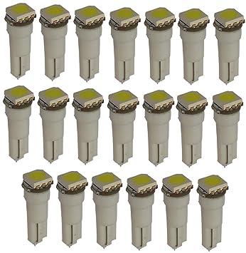 AERZETIX: 20 x Bombillas T5 24V LED SMD blanco para salpicadero de camion semirremolque: Amazon.es: Coche y moto