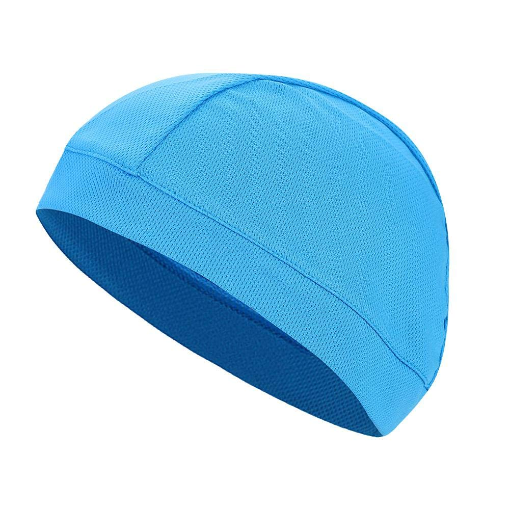 White Bewinner 6Colors Men//Women Mesh Fabric Skull Hat,Best as a Helmet Liner Cap,Great Cycling Cap and Running Hat for Motorcycling Road Racing or Other Outdoor Sport Activities