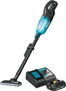 Makita XLC04R1BX4 18V LXT Lithium-Ion Compact Brushless Cordless 3-Speed Vacuum Kit, W/Push Button (2.0Ah)