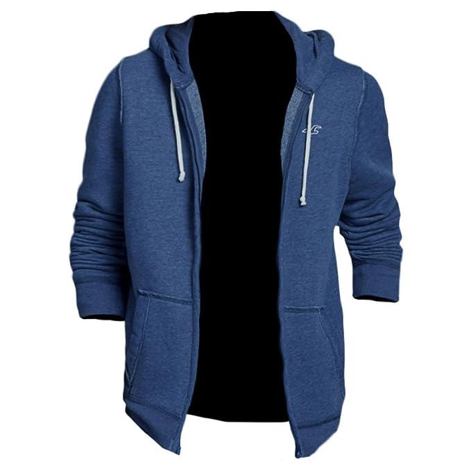 Hollister Hombre San elijo Sudadera Capucha Jersey Chaqueta de punto para mujer (322 - 222 - 0330 - 011) Azul azul claro: Amazon.es: Ropa y accesorios