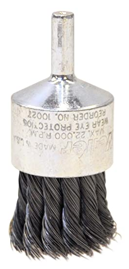 WEILER 10027 Knot Style Wire End Brush 1-1//8 Pack of 2 Diameter