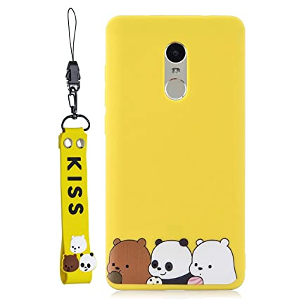 CoverTpu Funda para Xiaomi Redmi Note 4, Amarillo Silicona ...