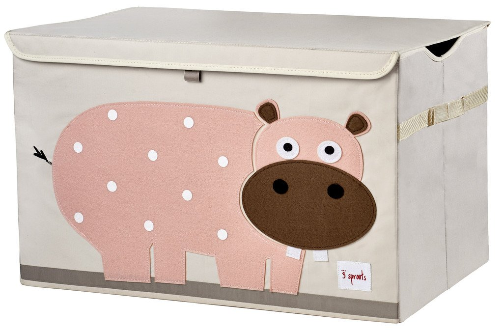 3 Sprouts Toy Storage Chest, Pink Hippo Lulujo UTCHIP