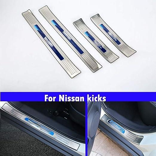 4pcs Car door pedal pedal protection strip decorative strip For Nissan kicks 2017 2018 2019
