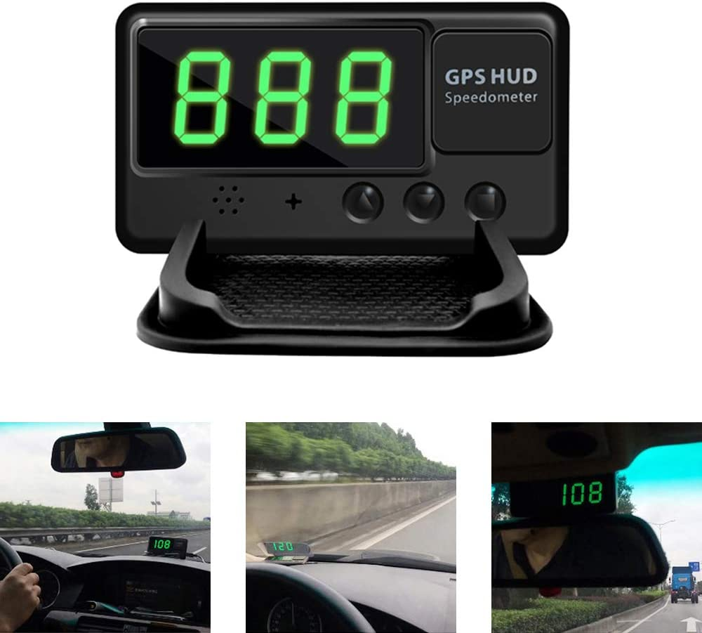 Amazon Com Kingneed Universal Gps Heads Up Display Car Gps Speedometer Digital Speed Projector Windshield Projection With Over Speed Alarm For All Vehicle Automotive
