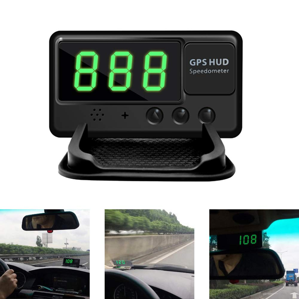 KingNeed Universal GPS Heads Up Display Car GPS Speedometer Digital Speed Projector Windshield Projection with Over-speed Alarm For All Vehicle