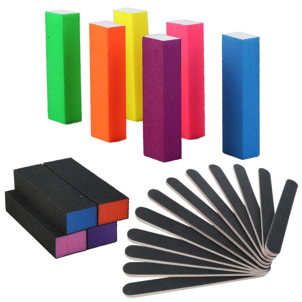 Mipruct 22PCS Nail files and buffers, Nail buffers blocks, Manicure tools with nail file and nail buffer block for acrylic nails, emery boards for nails : Beauty